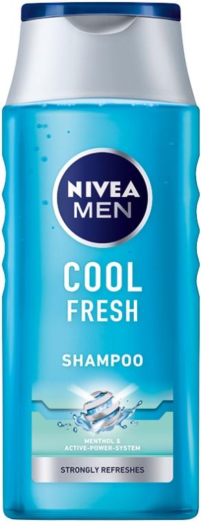 Shampoo für Männer, Tiefenreinigung und Erfrischung - Nivea For Men Cool Fresh Mentol Shampoo — Bild N1