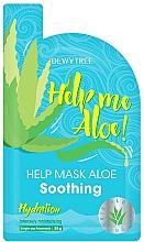 Düfte, Parfümerie und Kosmetik Intensiv feuchtigkeitsspendende und beruhigende Tuchmaske für das Gesicht mit Aloe Vera - Dewytree Help Me Aloe! Soothing Mask