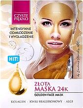 Düfte, Parfümerie und Kosmetik Verjüngende Gesichtsmaske mit Kollagen, Hyaluronsäure und Algen - Czyste Piekno Gold Face Mask
