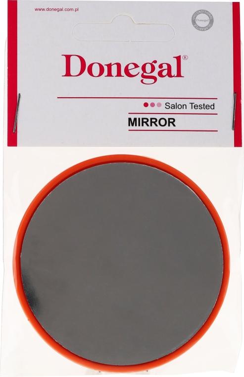 Kosmetischer Taschenspiegel 9511 rund 7 cm orange - Donegal