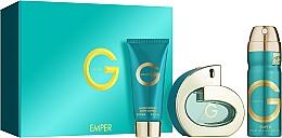 Düfte, Parfümerie und Kosmetik Duftset - Emper G Pour Femme (Eau de Parfum 100ml + Deospray 200ml + Körperlotion 100ml)