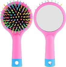 Düfte, Parfümerie und Kosmetik Haarbürste mit Speigel rosa - Twish Handy Hair Brush with Mirror Rose Pink