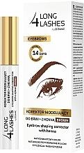 Düfte, Parfümerie und Kosmetik Formkorrektur-Stift für Augenbrauen mit Henna - Long4Lashes Eyebrow Shaping Corrector with Henna