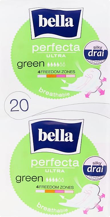 Damenbinden Perfecta Green Drai Ultra 10+10 St. - Bella