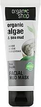 Düfte, Parfümerie und Kosmetik Gesichtsmaske mit Bio Seetang-Extrakt, Mineralien und Schlamm aus dem Toten Meer - Organic Shop Mud Mask Face