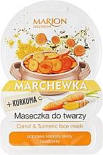 Düfte, Parfümerie und Kosmetik Feuchtigkeitsspendende Gesichtsmaske mit Karotte und Kurkuma - Marion Fit & Fresh Carrot & Turmeric Face Mask