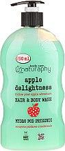 Düfte, Parfümerie und Kosmetik Duschgel für Haar und Körper Apfel & Aloe Vera - Bluxcosmetics Naturaphy
