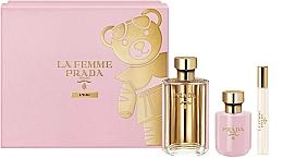 Düfte, Parfümerie und Kosmetik Prada La Femme L'Eau - Duftset (Eau de Toilette/100ml + Körperlotion/100ml + Eau de Toilette/Mini/10ml)