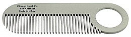 Düfte, Parfümerie und Kosmetik Haarkamm Modell №2 Titan - Chicago Comb Co Model No.2 Titanium