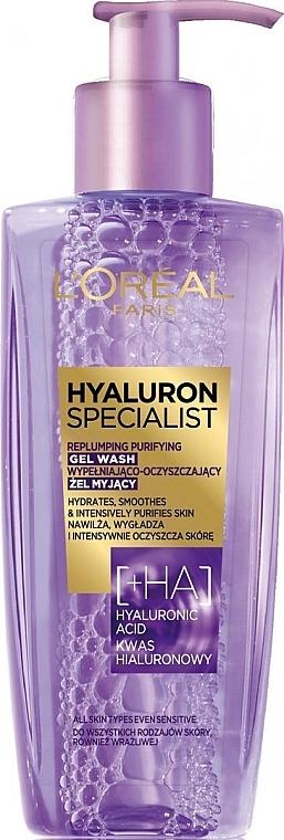 Aufpolsterndes Anti-Aging Waschgel für das Gesicht mit Hyaluronsäure - L'Oreal Paris Hyaluron Expert