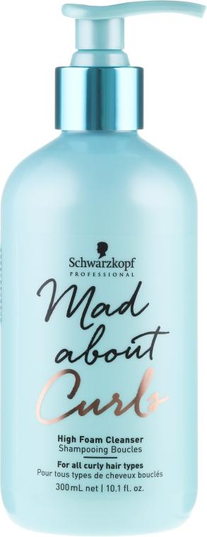 Feuchtigkeitsspendendes Shampoo für lockiges Haar - Schwarzkopf Professional Mad About Curls High Foam Cleanser Shampoo