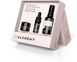 Düfte, Parfümerie und Kosmetik Gesichtspflegeset - D'Alchemy Loss of Elasticity Skin Renewer Travel Pack (Gesichtscreme 15ml + Gesichtsöl 5ml + Mizellenwasser 30ml)