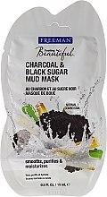 Düfte, Parfümerie und Kosmetik Gesichtsschlamm-Maske mit Holzkohle + schwarzer Zucker (Mini) - Freeman Feeling Beautiful Charcoal & Black Sugar Mud Mask