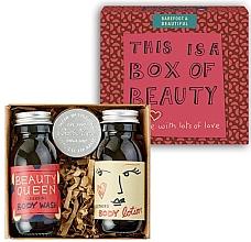 Düfte, Parfümerie und Kosmetik Körperpflegeset - Bath House Barefoot & Beautiful Box of Beauty Bodycare Gift Set (Duschgel 60ml + Körperlotion 60ml + Lippenbalsam mit Kirschextrakt 15ml)