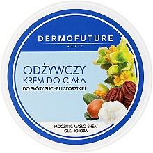 Düfte, Parfümerie und Kosmetik Nährende Körpercreme für trockene und raue Haut mit Sheabutter - DermoFuture