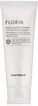 Düfte, Parfümerie und Kosmetik Aufhellender Gesichtsschaum zum Abschminken mit Lotusblume - Tony Moly Floria Brightening Foam Cleanser