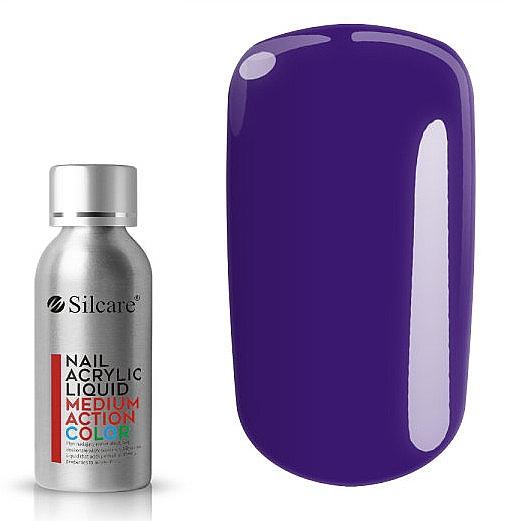 Acryl-Flüssigkeit für mittelfortgeschrittene Stylisten - Silcare Nail Acrylic Liquid Medium Action Color