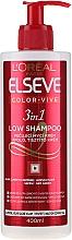 Düfte, Parfümerie und Kosmetik 3in1 Mildes Shampoo für coloriertes Haar - L'Oreal Paris Elseve Low Shampoo