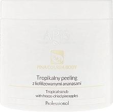 Düfte, Parfümerie und Kosmetik Körperpeeling mit gefriergetrockneter Ananas - Apis Professional Pina Colada Body Tropical Scrub