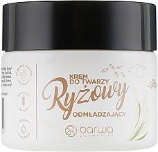Düfte, Parfümerie und Kosmetik Verjüngende Reiscreme für das Gesicht mit Kokosöl - Barwa Naturalna