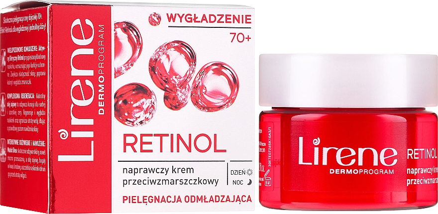 Anti-Falten-Pflegecreme - Lirene 70+