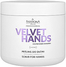 Düfte, Parfümerie und Kosmetik Hand Scrub mit Lilie und Flieder Duft - Farmona Professional Velevet Hands Scrub For Hands