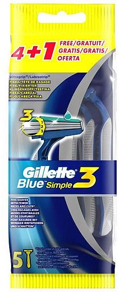 Einwegrasierer 5 St. - Gillette Blue 3 Simple
