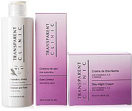 """Düfte, Parfümerie und Kosmetik Gesichtspflegeset - Transparent Clinic """"Day & Night"""" (Reinigendes Gesichtstonikum 200ml + Augencreme 18ml + Gesichtscreme 50ml)"""