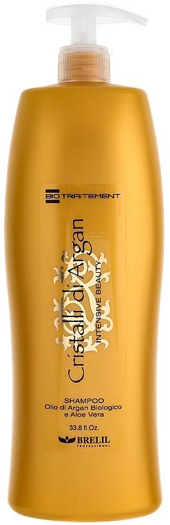 Feuchtigkeitsspendendes Shampoo mit Arganöl und Aloe Vera - Brelil Bio Traitement Cristalli d'Argan Shampoo Intensive Beauty — Bild N1