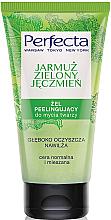 Düfte, Parfümerie und Kosmetik Peelinggel für das Gesicht mit Gemüsekohl und grüner Gerste - Perfecta