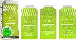 Düfte, Parfümerie und Kosmetik Pediküre-Set mit grünem Tee - Voesh Pedi In A Box 3 In 1 Deluxe Pedicure Green Tea (35 g)