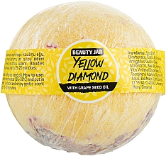 Düfte, Parfümerie und Kosmetik Badebombe mit Traubenkernöl Yellow Diamond - Beauty Jar With Grape Seed Oil Natural Bath Bomb