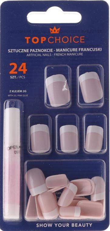 Künstliche Fingernägel inkl. Kleber French 74080 - Top Choice