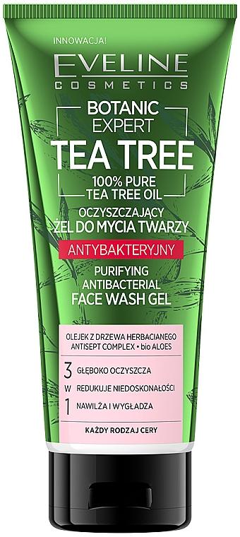 Antibakterielles Gesichtsreinigungsgel mit Teebaumöl - Eveline Cosmetics Botanic Expert Tea Tree Face Wash Gel