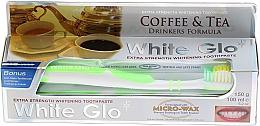 Düfte, Parfümerie und Kosmetik Zahnpflegeset - White Glo Coffee & Tea Drinkers Formula Whitening Toothpaste (Zahnpasta 100ml + Zahnbürste)