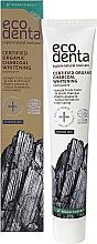 Düfte, Parfümerie und Kosmetik Aufhellende Zahnpasta mit Aktivkohle - Ecodenta Certified Cosmos Organic Black Whitening Toothpaste