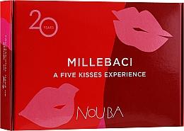 Düfte, Parfümerie und Kosmetik Lippenpflegeset №1 (Lippenstift 5x6ml) - NoUBA Millebaci Box Set 5 Kisses Experience