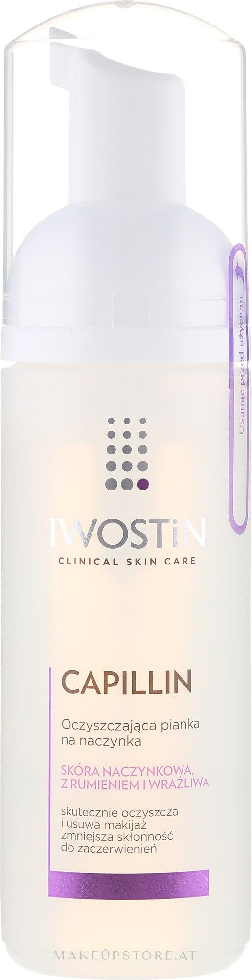 Gesichtsreinigungsschaum - Iwostin Capilin Reinforcement Foam — Bild 165 ml