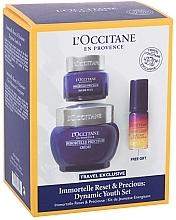 Düfte, Parfümerie und Kosmetik Gesichtspflegeset - L'Occitane Immortelle (Gesichtscreme 50ml + Augenbalsam 15ml + Gesichtselixier 5ml)