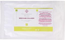 Düfte, Parfümerie und Kosmetik Seboregulierende Tuchmaske mit Kollagen für fettige und gemischte Gesichtshaut - Charmine Rose Sebomask Collagen