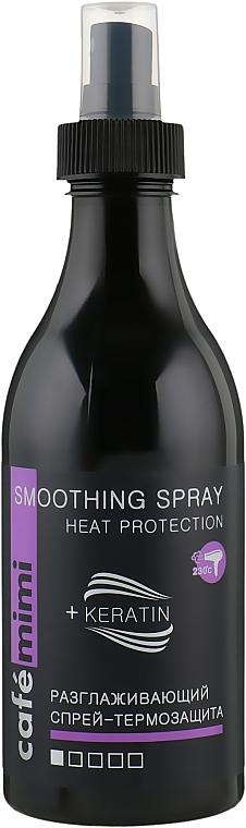 Glättendes thermoschützendes Haarspray mit Keratin - Cafe Mimi Smoothing Spray Heat Protection