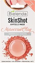 Düfte, Parfümerie und Kosmetik Regenerierende Gesichtsmaske aus Ghassoul marokkanische Lavaerde - Bielenda Skin Shot Marrocan Clay
