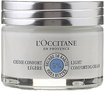 Leichte pflegende Gesichtscreme mit Sheabutter - L'occitane Light Face Cream — Bild N1