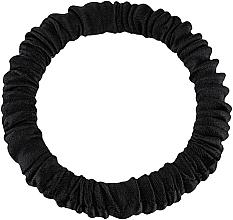 Düfte, Parfümerie und Kosmetik Scrunchie-Haargummi aus Naturseide schwarz Skinny - Makeup Skinny Scrunchie Black