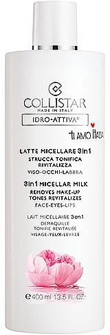 3in1 Mizellenmilch für Gesicht, Augen und Lippen - Collistar Idro Attiva Latte Micellare 3 in 1