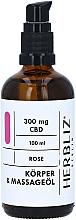 Düfte, Parfümerie und Kosmetik Massageöl für den Körper Rose - Herbliz CBD