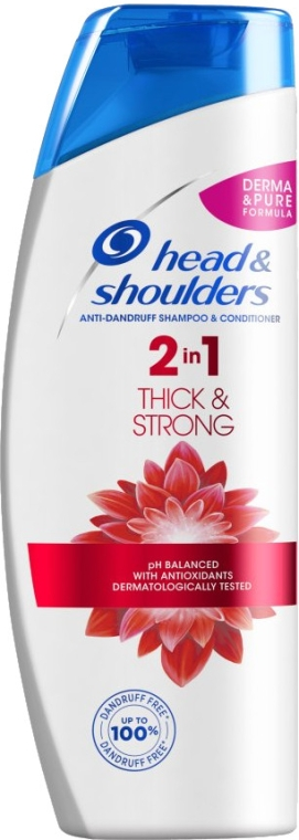 """2in1Anti-Schuppen Shampoo und Conditioner """"Thick & Strong"""" - Head & Shoulders Thick & Strong — Bild N1"""