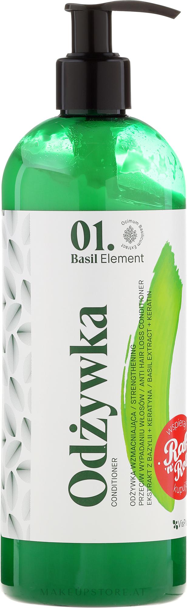 Spülung gegen Haarausfall mit Basilikum Extrakt und Keratin - _Element Basil Strengthening Anti-Hair Loss Conditioner — Bild 500 ml