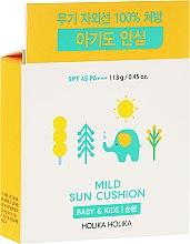 Düfte, Parfümerie und Kosmetik Sonnenpolster SPF 45 PA+++ - Holika Holika Mild Sun Cushion SPF45