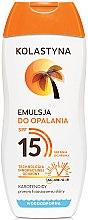 Düfte, Parfümerie und Kosmetik Sonnenschutzlotion SPF 15 - Kolastyna Emulsion SPF 15